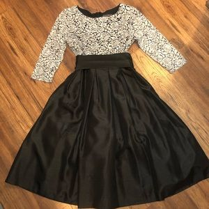 Black and silver formal dress